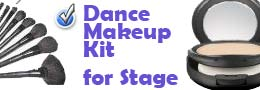 Dance makeup kit for stage and dance