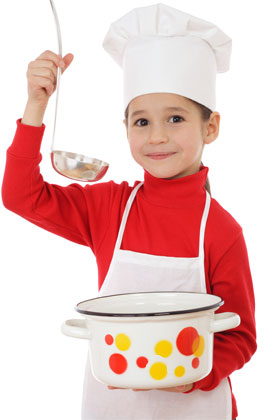 Kids chef hats and aprons on sale