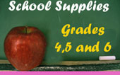 school supplies for grades 4, 5 and 6