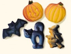 Sugar Shapes for Halloween cupcake decorating